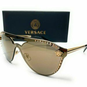 Versace Pale Gold Mirror 42mm Sunglasses